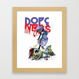 Damn Zombie Hipsters Framed Art Print