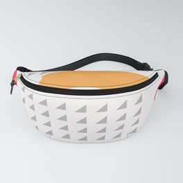 Modern triangles and happy colors Fanny Pack