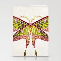 moth Stationery Cards featuring moth by Manoou