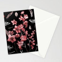 Dark Red Beetles Stationery Cards