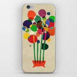 Happy flowers in the vase iPhone Skin