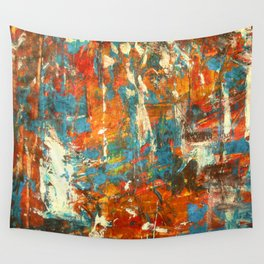 An Oasis In A Desert Abstract Painting Wall Tapestry