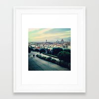 florence Framed Art Prints featuring Florence by Rachel Weissman