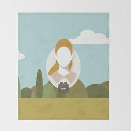 Moonrise Kingdom - Suzy Bishop (Kara Hayward) Throw Blanket