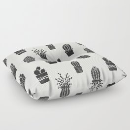 Southwestern Stamped Potted Cactus + Succulents Floor Pillow