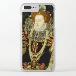 Portrait of Elizabeth I Clear iPhone Case