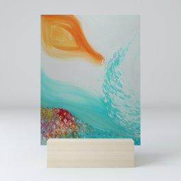 """Cristalda e Pizzomunno"" Original oil finger painting by Monika Toth Mini Art Print"