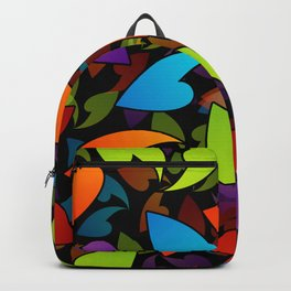 Four seasons leaves- colorful leaves to symbolize seasons Backpack