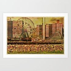 Coney Island Summer Art Print