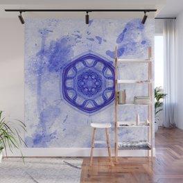 Blue wheel of fortune mandala Wall Mural