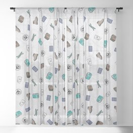 Never Stop Traveling Sheer Curtain