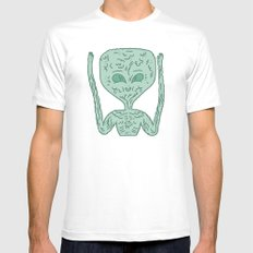 biological robotic avatar  Mens Fitted Tee White MEDIUM