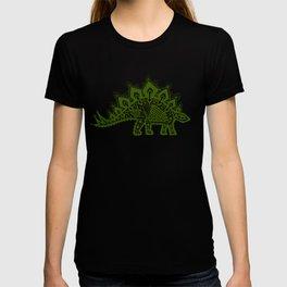 Stegosaurus Lace - Green T-shirt