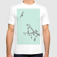 Free as a bird MEDIUM White Mens Fitted Tee