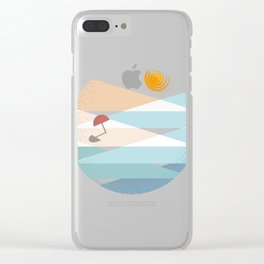 Summer-shaped #2 On the beach Clear iPhone Case