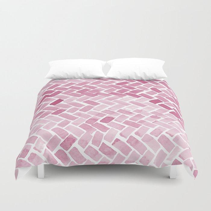 pink pavement Duvet Cover