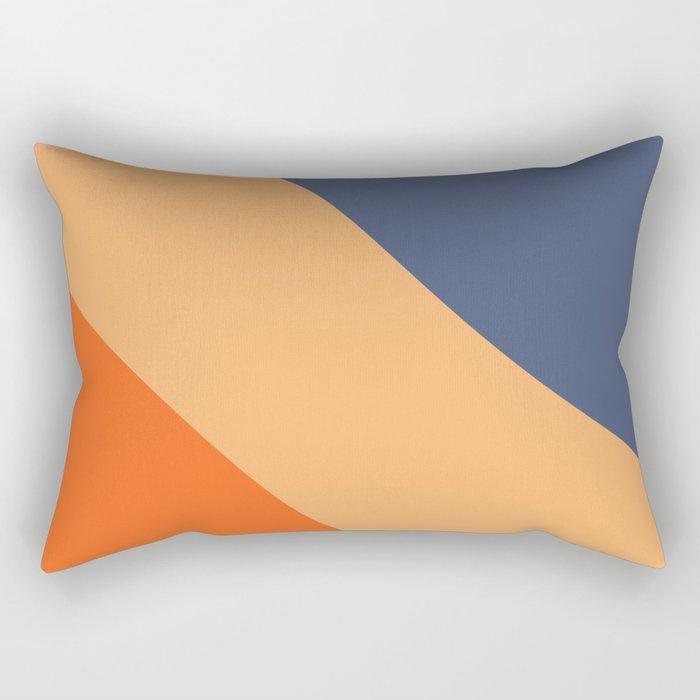 Cola Color Block Rectangular Pillow
