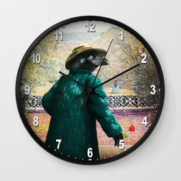 Ronaldo Raven on his way to a Romantic Rendezvous Wall Clock