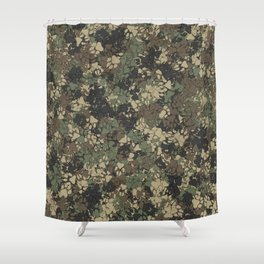Wolf paw prints camouflage Shower Curtain