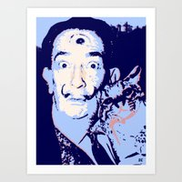 dali Art Prints featuring Dali  by old opps