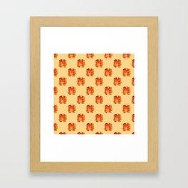Pancake pile pattern Framed Art Print