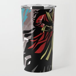 exodus moses with staff in the sea Travel Mug