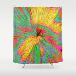 Explosion Of Color On Canvas Shower Curtain