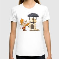 aang T-shirts featuring Cross over Ghibli Appa  by Minette Wasserman