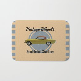 Vintage Wheels - Studebaker Starliner Bath Mat