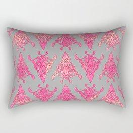Arabesque Doodle Pattern on light grey Rectangular Pillow