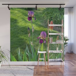 Mauve Iris and Torch Lillies.... Wall Mural