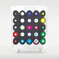 matrix Shower Curtains featuring Color Matrix by berger + stadel + walsh