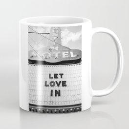 Let Love In Monochrome Coffee Mug