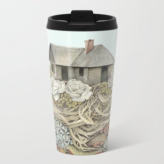 Sweet Home I // Forest Illustration Metal Travel Mug