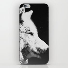 Wolf night | Wolves | Wolf pillow | Starry night | White wolf iPhone Skin