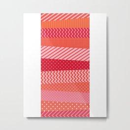 Red Tape Metal Print