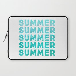 SUMMER - simply typography Laptop Sleeve