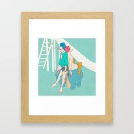 男なんてシャボン玉 Framed Art Print