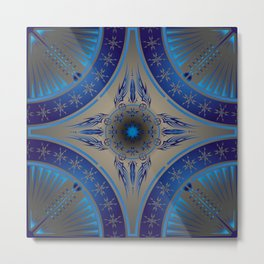 Blue Fire Spirit Metal Print