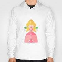 princess peach Hoodies featuring Peach by Khatii