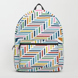 Herringbone Color Backpack