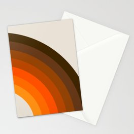 Retro Golden Rainbow - Right Side Stationery Cards