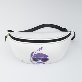 Psychedelic Snorkeling Skull Outer Space Goggles Cosmic Fanny Pack