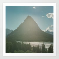 Mt. Grinnell Art Print