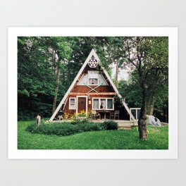 A-Frame, White Mts., NH Art Print