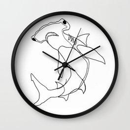 Hammerhead Shark (white) Wall Clock
