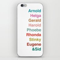 arnold iPhone & iPod Skins featuring HEY ARNOLD! by Glassy
