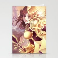 league of legends Stationery Cards featuring League of legends Leona by Rikku Hanari