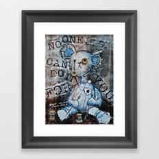 NO ONE ELSE CAN DO IT FOR YOU Framed Art Print