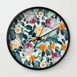 Rose Garden Wall Clock